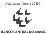 Autorizada pelo banco central com o número 30389